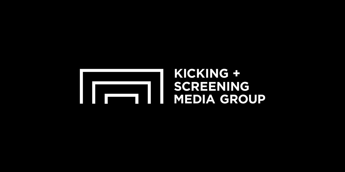 Kicking + Screening Media Group Logo, Matthew Wolff, Design