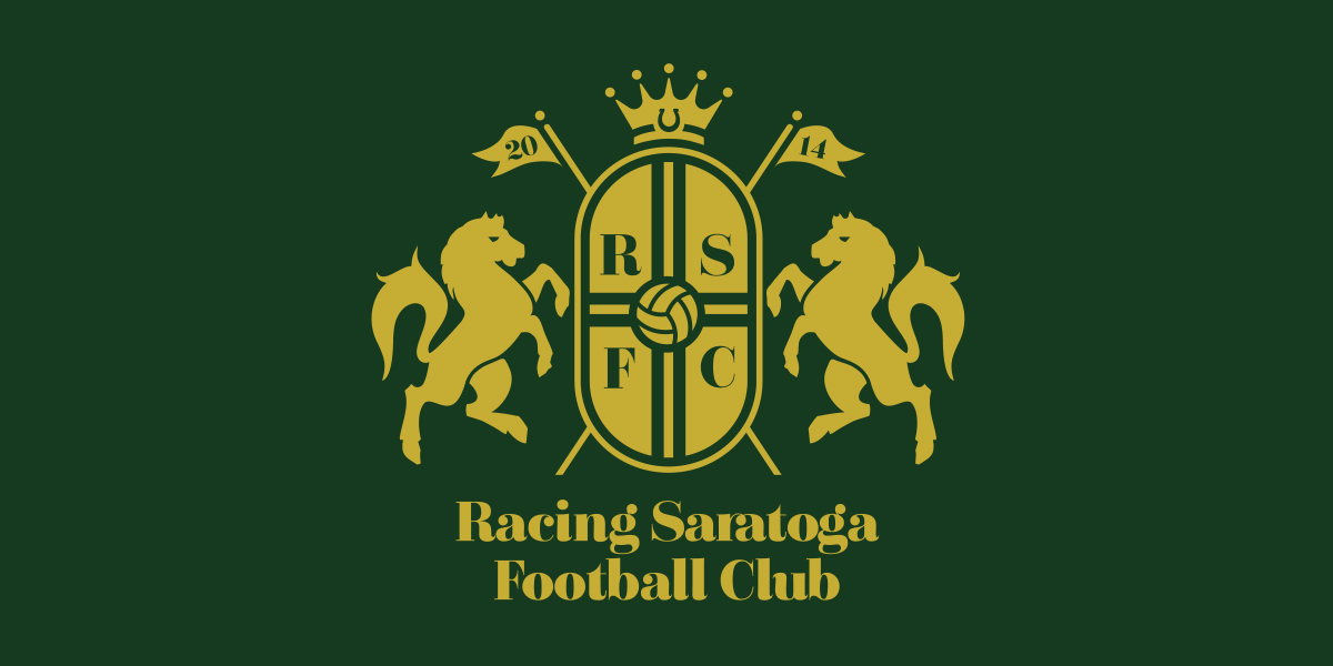 Soccer Logo Design, Racing Saratoga Football Club