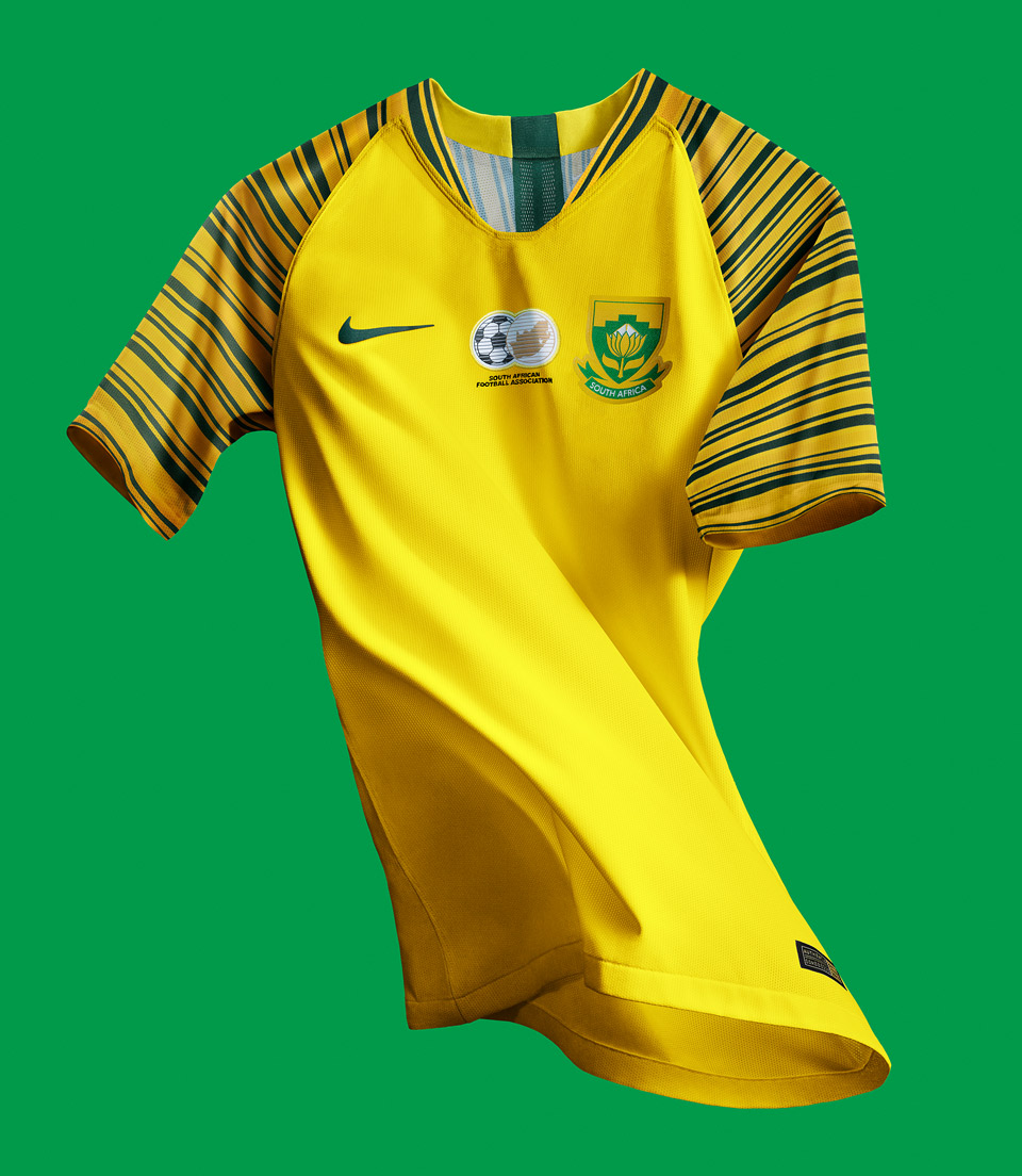 South Africa Home Kit, Jersey Nike 2018, Matthew Wolff, Bafana Bafana, Tour Yellow, Gorge Green
