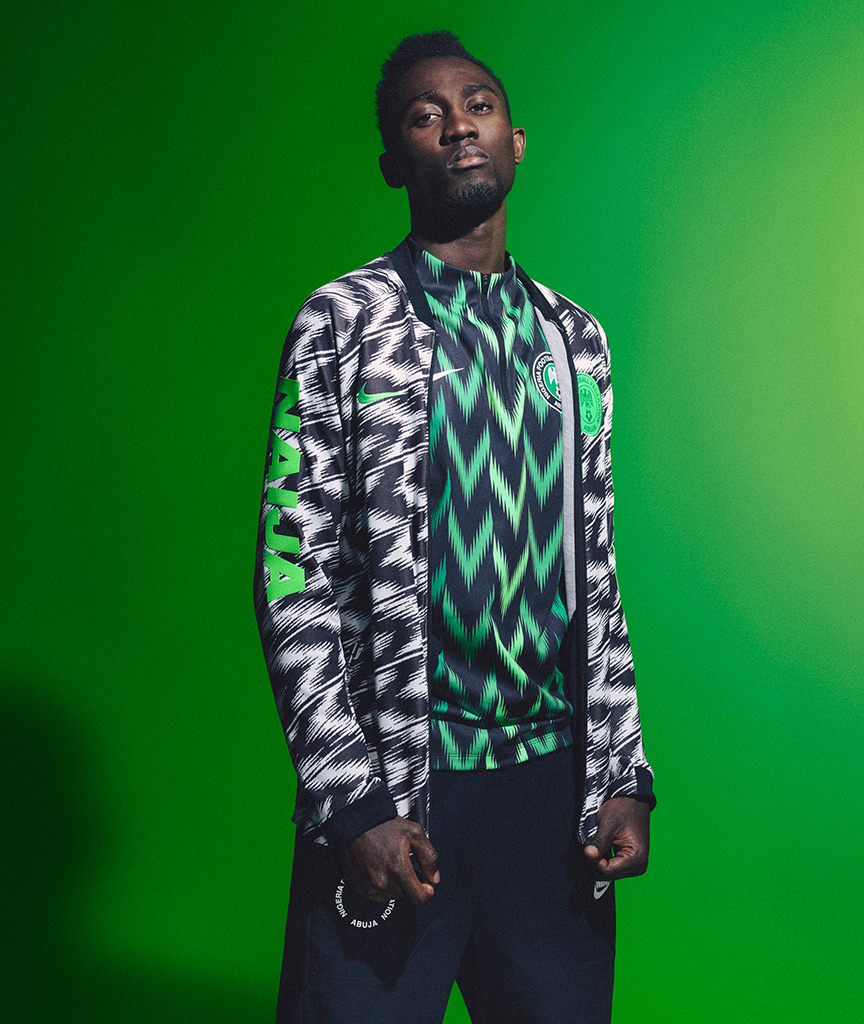 Ndidi Nigeria World Cup training top 2018 Nike